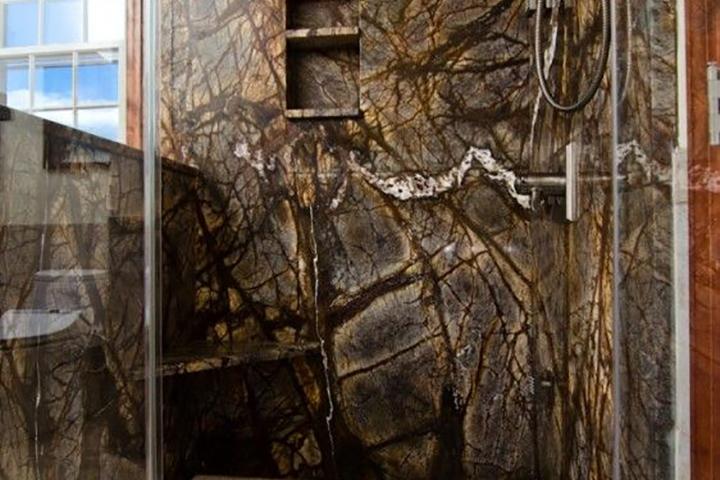 Rainforest Brown Granite : Granite countertops assi fabricators llc